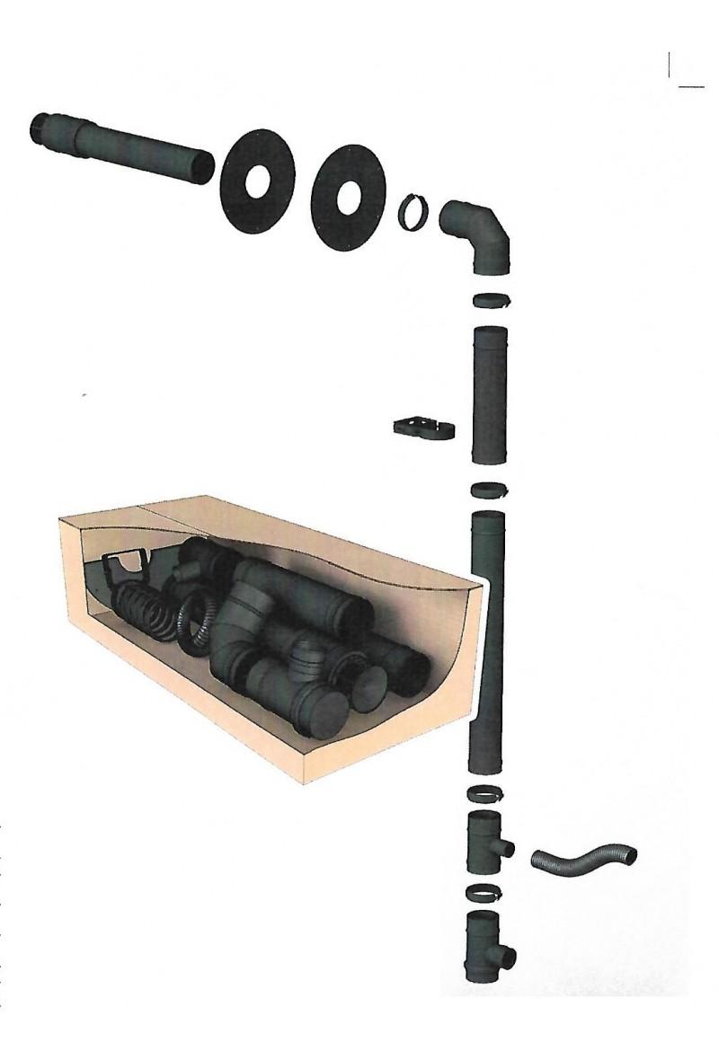kit de raccordement po le granule art et chemin e. Black Bedroom Furniture Sets. Home Design Ideas